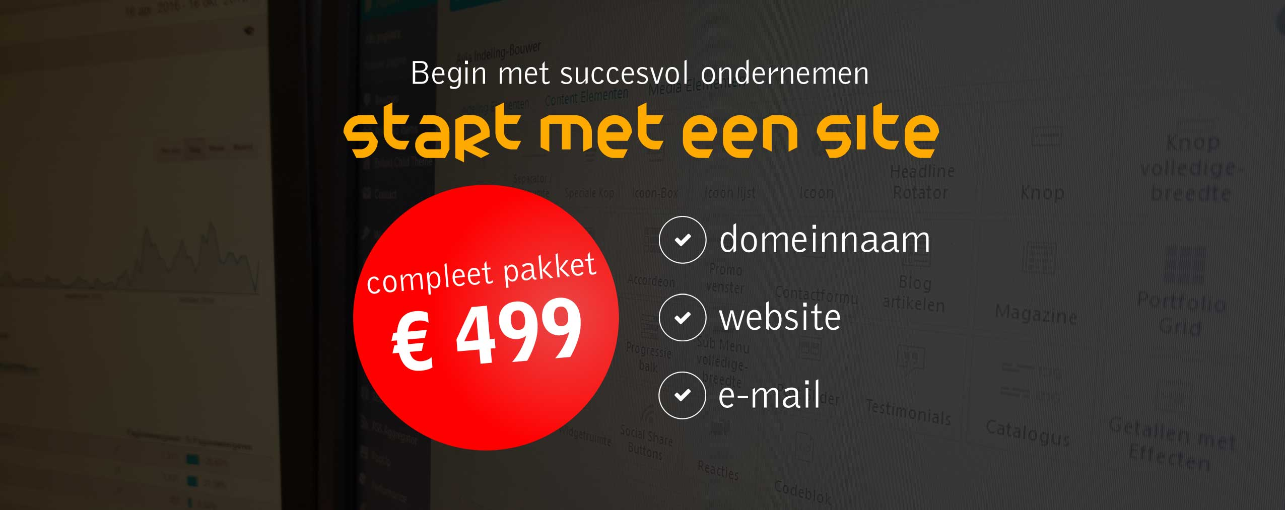 Flyer Start met een site